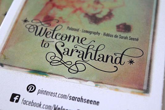 Reprendre Lexact Format Du Polaroid Tait Pour Moi Une Vidence La Demande De Sarah Jai Galement Fait Des Cartes Plus Petites Et Donc Pratiques